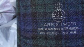Una pieza de tejido de Harris Tweed Foto: Kathryn MacLeod