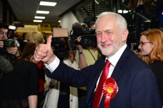 abour leader Jeremy Corbyn arrives at the Sobell Leisure Centre in Islington, north London