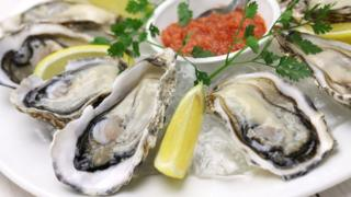 A dish of oysters