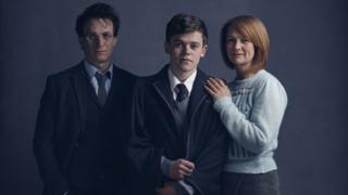 Jamie Parker, Sam Clemmett and Poppy Miller in Harry Potter and the Cursed Child