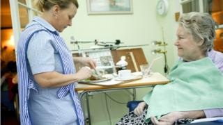 Carer in nursing home cuts up woman's food