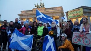 Jenny at the Brandenburg Gate on Thursday