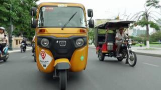 Tuk-tuk en Cambodia