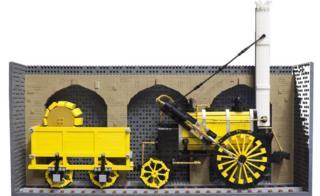 Lego model of Stephenson's Rocket