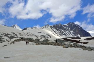 Ледник Рама. Верховья Зерафшанской долины, Согдийская область Таджикистана
