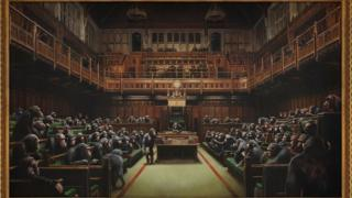 Banksy MPs as chimpanzees painting up for auction