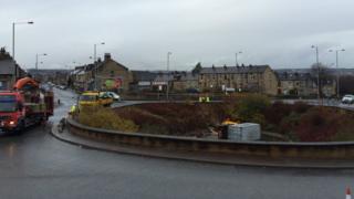 Lorry crash in Bradford