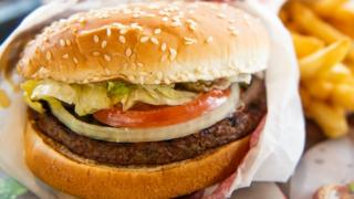 photo illustration of an 'Impossible Whopper'