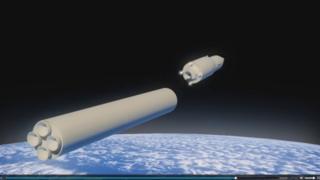 صورة صاروخ بواسطة الكمبيوتر