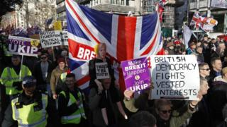 UKIP-organised march in support of Brexit
