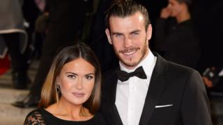 Emma Rhys-Jones and her partner Gareth Bale