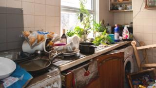 Kitchen in a Nantgarw home, Rhondda Cynon Taf