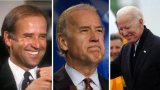 Joe Biden across the years