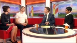 Jon Walters on set of BBC Breakfast