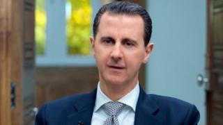 Bashar al-Assad interviewed by AFP in Damascus on 12 April 2017