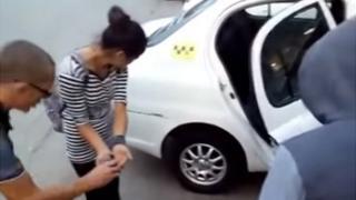 Screenshot of green dye incident on YouTube