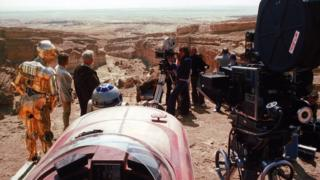 Star Wars filming in Tunisian desert