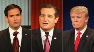 Marco Rubio, Ted Cruz, Donald Trump
