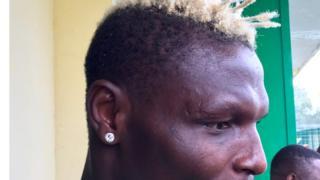 Aristide Bancé lors de sa dernière session d'entraînement, mardi 31 janvier, avant le match Burkina Faso-Egypte