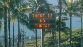 In Hawaii, the sirens for a missile attack and a natural disaster warning sound different (Pictured: A sign in Oahu, Hawaii, after the false emergency alert)