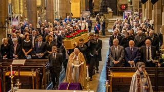 Funeral of Eric Harrison