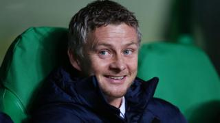 Ole Gunnar Solskjaer the head coach of Molde looks on during the UEFA Europa League Group A match between Celtic FC and Molde FK at Celtic Park on November 5, 2015 in Glasgow, United Kingdom