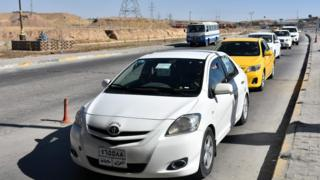 Kerkük'ten ayrılan Kürt aileler