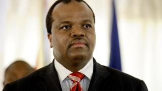 King Mswati III in 2012 in Maputo, Mozambique