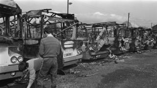 Buses destroyed 1982