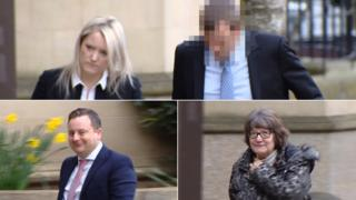 Lindsay Clarke, Graham Clarke, Neil Anderson and Marilyn Nixon were cleared of the charges (Clockwise from the left)