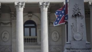 Confederate flag outside the State House building in South Carolina
