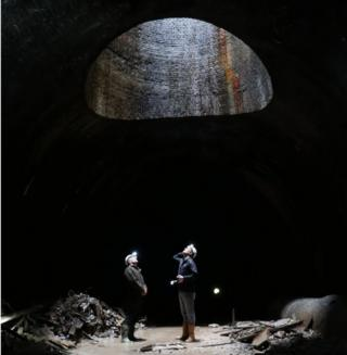 Will Millard in Wenvoe tunnel