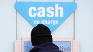 Cash machine sign