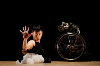 in_pictures Kenta Kambara, who was born with spina bifida, performs onstage during a dance event in Tokyo, Japan. 8 February 2020.