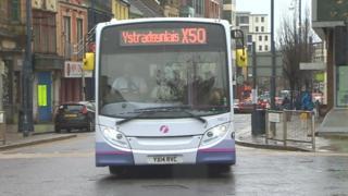Bus in Swansea