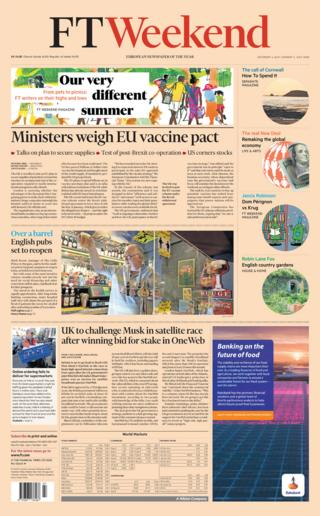 Financial Times front page 04.07.20