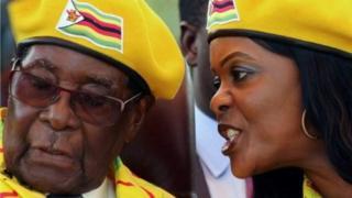 Robert Mugabe na Grace nwunye ya