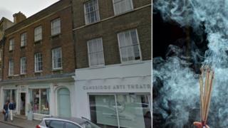 Peas Hill, Cambridge and incense sticks