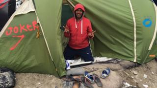 Abdulla, the Eritrean joker, in the Jungle camp