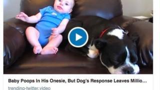 Baby poop video screen grab
