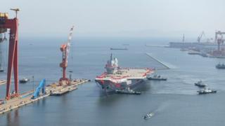 Dalian Limanı'ndan yola çıkan gemi
