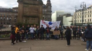 Protest in George Square