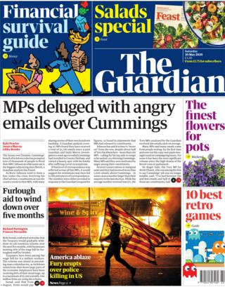 The Guardian front page 30 May
