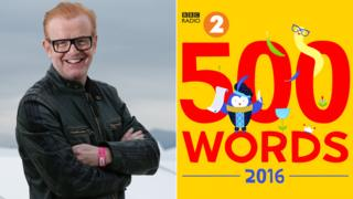 Chris Evans and the 500 Words logo
