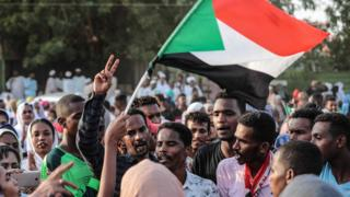 Sudanese people celebrate power-sharing deal