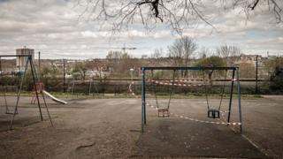 Empty playground in Bristol