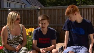 science Mum Kelly, Josh and Kieran have had to deal with 10 months of upheaval after the fire at Woodmill