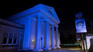 New Walk Museum in blue