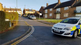 Scene of the shooting in Bestwood