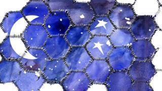 La luna con las estrellas